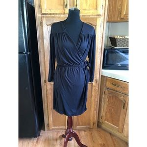 French Connection Black Wrap Dress XL